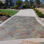 concrete stained driveway