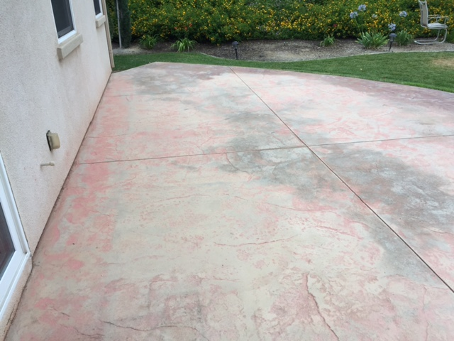 How To Re A Stamped Concrete Patio Newlook International